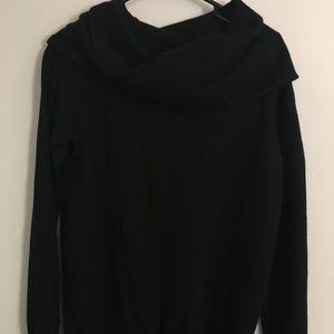 Gap black scarf neck sweater
